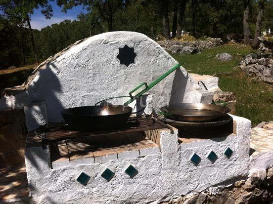 Casa Rural Las Castañetas - Barbacoa cocina