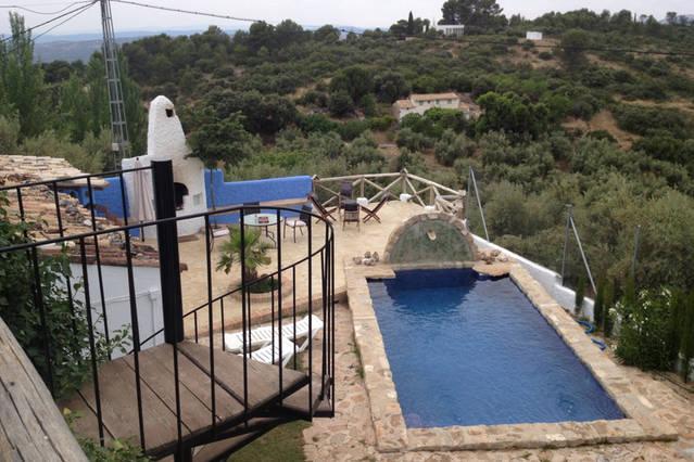 Casa rural Lancha de los Lentejos - Vista alta Piscina